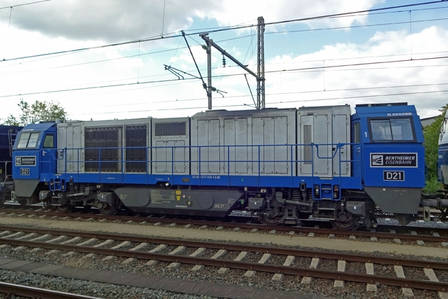 Foto van BE Vossloh G 2000 BB 21 Diesel locomotief door LeoScribens