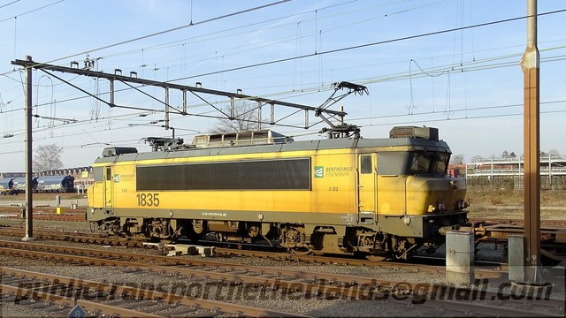Foto van BE Alsthom 1600/1800 1835 Electrische locomotief door PublicTransportNetherlands
