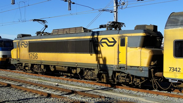 Foto van NS Alsthom 1700 1756 Electrische locomotief door PublicTransportNetherlands