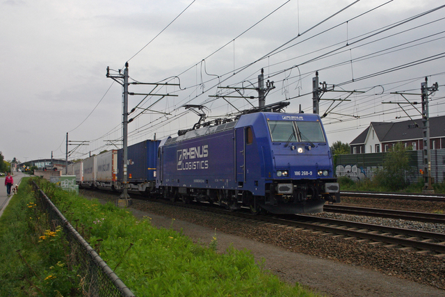 Foto van Crossrail Bombardier TRAXX 186268 Electrische locomotief door best trains